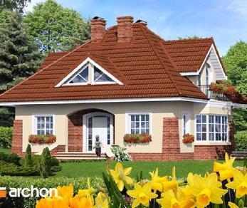 Проект  Дом в клеверках, 133.1 м2