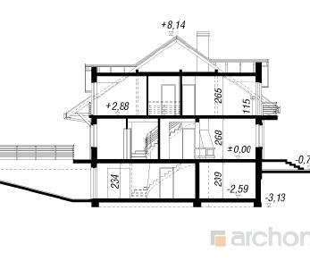 Проект  Дом под гинко 4, 150.6 м2