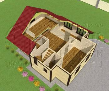 Проект дома Проект дома №23, 67.5 м2