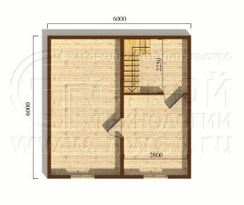 Проект дома Проект дома №20, 36 м2