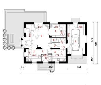 Проект  Дом в рододендронах 7, 141.7 м2