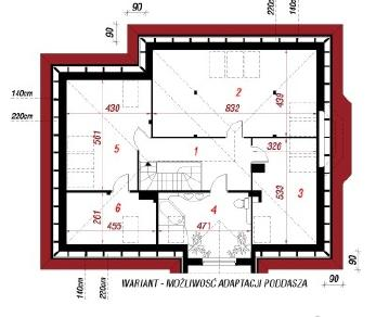 Проект  Дом в оливках, 103.2 м2