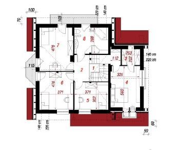 Проект  Дом в тамарисках 3, 162.1 м2