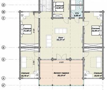 Проект  Дмитрово, 432 м2