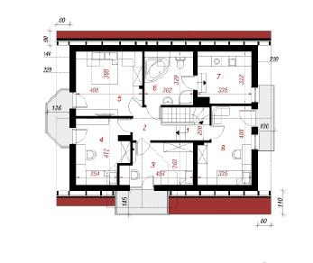 Проект  Дом в рододендронах14, 158.7 м2