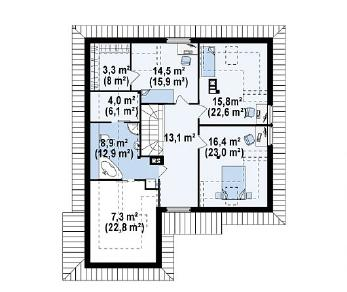 Проект дома Проект Z58, 241.7 м2