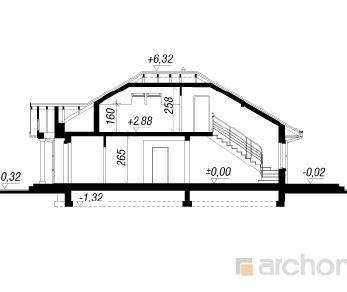 Проект  Дом у потока, 129.4 м2