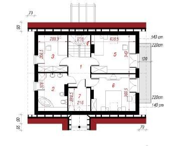 Проект  Дом в примулах (П), 190.9 м2