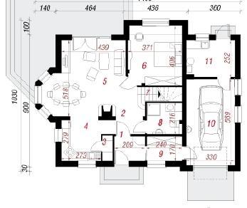 Проект  Дом в рододендронах 8, 173.8 м2