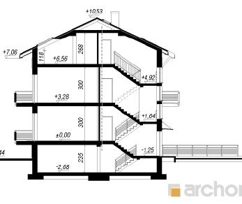 Проект  Дом в саговниках 3 (С), 299.1 м2