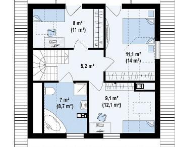 Проект дома Проект Z1, 107.5 м2