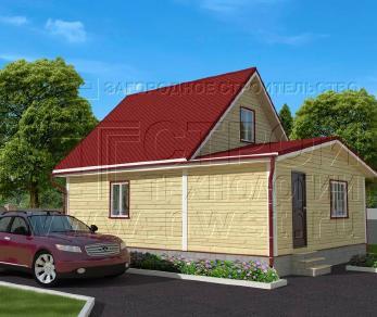 Проект дома Проект дома №89, 63 м2