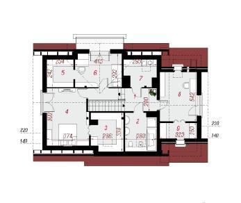 Проект  Дом под личи 2, 176.3 м2