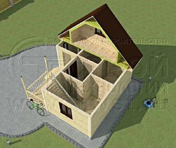 Проект дома Проект дома №51, 36 м2