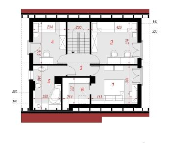 Проект  Дом в хлорофитуме, 118.2 м2