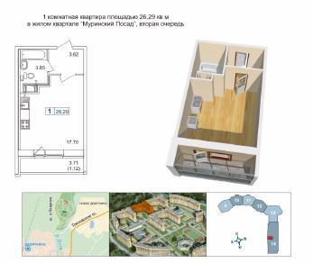 Продажа квартиры Новое Девяткино
