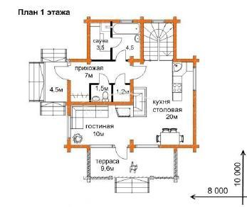 Проект дома Проект ДН-152, 122.5 м2