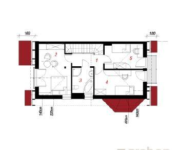 Проект  Дом под гинко 2, 98.5 м2