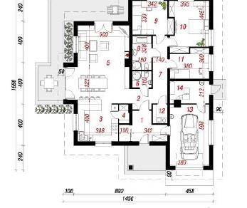 Проект  Дом в лобо, 160.9 м2