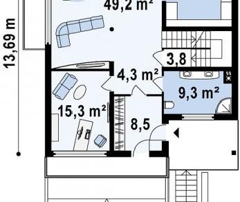 Проект дома Проект Z53, 346.9 м2