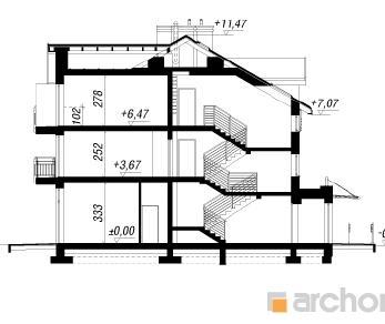 Проект  Дом у бульвара 9, 486.64 м2
