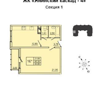 Продажа квартиры Янино-1, Кольцевая ул., д.12
