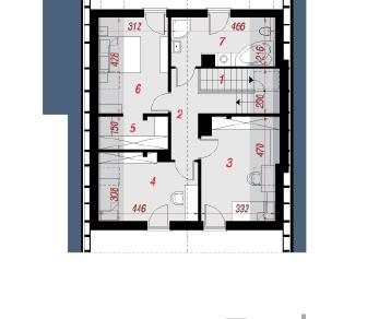 Проект  Дом в авене 2, 121.74 м2