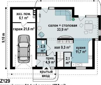 Проект дома Проект z129, 183.3 м2