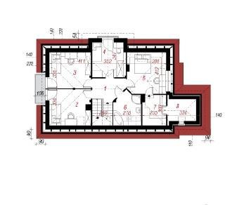 Проект  Дом в фуксиях 4, 150.8 м2