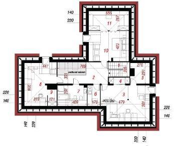 Проект  Дом в зубянке, 238.7 м2