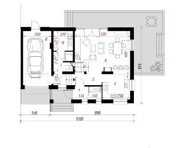 Проект  Дом в мирте 4 (Б), 136 м2