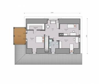 Проект  Проект загородного дома Lind 201, 262 м2
