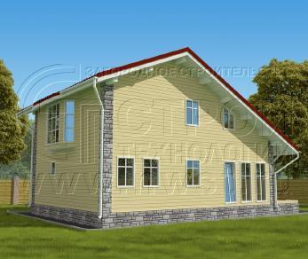 Проект дома Проект дома №130, 80 м2