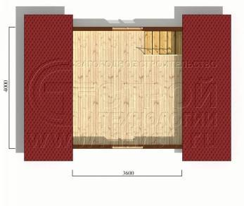 Проект дома Дачный дом 4х6 м (базовая комплектация), 24 м2