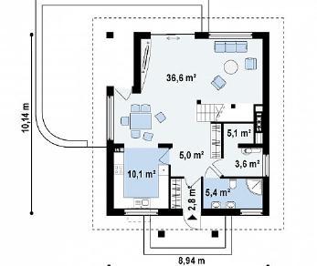 Проект дома Проект Z145, 131.5 м2