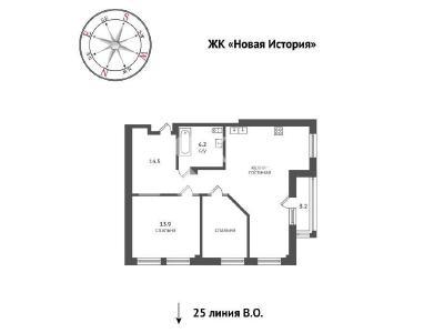 Продажа квартиры 68 м2 Средний В.О. пр., д.85
