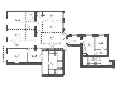 Продажа квартиры 221 м2 Реки Фонтанки наб., д.54