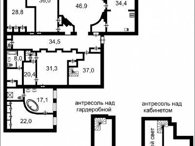 Продажа квартиры 343.8 м2 Адмиралтейская наб., д.12