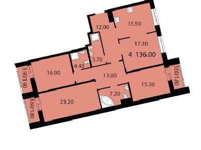 Продажа элитной квартиры 136 м2 в новостройке, Смоленская ул., д.14 - №104696