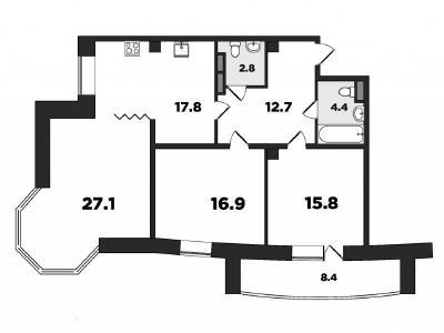 Продажа квартиры бизнес-класса 106 м2 Лиственная улица, д. 18