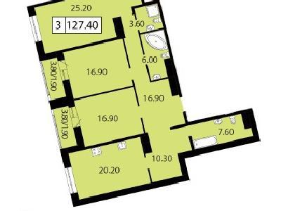 Продажа элитной квартиры 127.4 м2 в новостройке, Смоленская ул., д.14 - №104694
