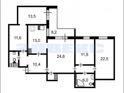 Продажа квартиры бизнес-класса 123.3 м2 Поликарпова алл., д.2