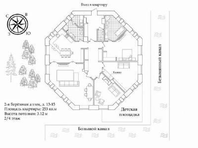 Продажа квартиры 253 м2 2-я Березовая алл., д.13