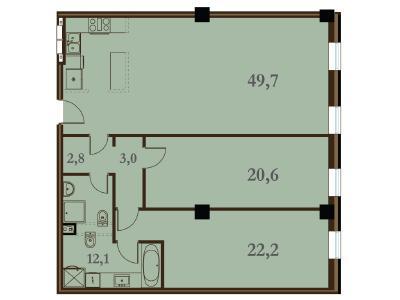 Продажа квартиры 110.4 м2 Конногвардейский бул., д.5