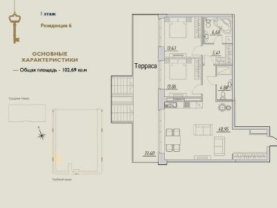 Продажа строящиеся проекты 102.69 м2 Мартынова наб., д.92