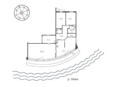 Продажа квартиры 175 м2 Оренбургская ул., д.2