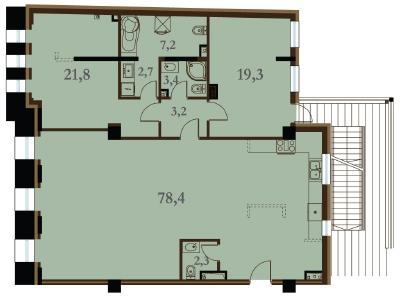Продажа квартиры 138.3 м2 Конногвардейский бул., д.5