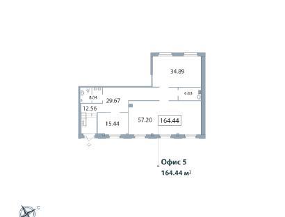 Продажа  офисного помещения Морской пр., д.29, 164.44 м2