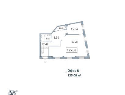 Продажа  офисного помещения Морской пр., д.29, 125.08 м2