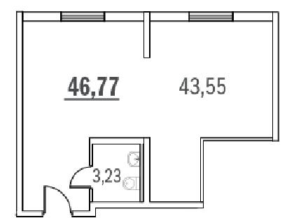 Продажа  магазина Королева пр., д. 59 к. 3, 46.77 м2